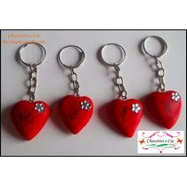 50 Chaveiros Coração De Biscuit (lembrancinha Dia Das Mães)