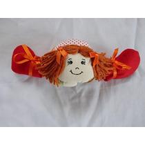 Boneca De Tecido Deitada Com Sapatinhos 28cm