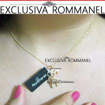 Rommanel Conjunto Pingente Corrente Namorado Fol Ouro 541829