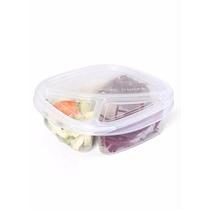 Tupperware Tapoer Pote Com 3 Divisórias - Resistente 1300ml