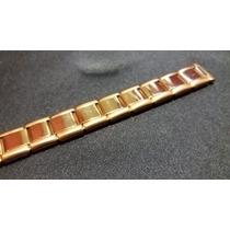 Pulseira Elástica Dourada Relógios Vários - Antigos 12mm