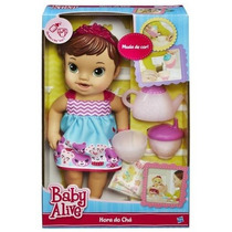 Boneca Baby Alive Hora Do Chá Morena Da Hasbro Original