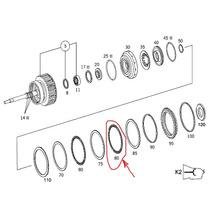 Mercedesc Clk Cl Sl Disco De Aço Para Cambio Automático