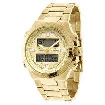 Relógio Technos 0527ab/4x - Anadigi Dourado - 12x Sem Juros