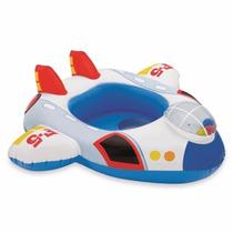 Baby Bote Kiddie Avião Boia Inflável Piscina Intex