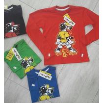 Camiseta Manga Longa Da Tigor