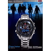 Relógio De Luxo Tvg Seals Elite Original Led Pronta Entrega