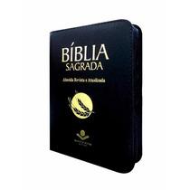Bíblia Com Zíper Almeida Revista E Atualizada , Preta