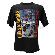 Camisa De Manga Curta Rock Banda Guns N Roses Appetite