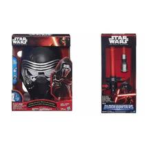 Star Wars Sabre De Luz E Mascara Eletronico Kylo Ren Hasbro