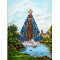 Quadro Nossa Senhora Aparecida Pintura Sacra Óleo S/tela