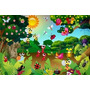 Painel Para Festa Infantil 1,00x1,50 Mts Floresta Encantada