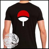 Camiseta Naruto Sasuke Uchiha Nas Costas - Camisa Simbolo