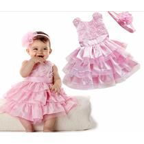 Vestido Luxo Festa Infantil Princes Importado Pronta Entrega