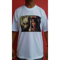 Camiseta India E Lobo - Shop Das Camisetas