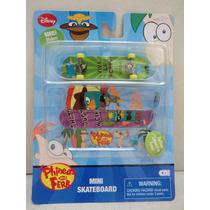 Skate De Dedo Phineas And Ferb Tamanho Aproximadamente 10cm