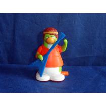 Boneco Miniatura Club Penguin Usado A Corda Disney 7cm