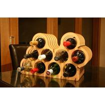 Mini Adega Rack Porta 10 Garrafas De Vinho Em Mdf