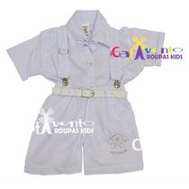 Conjunto Infantil Bebê Batizado Menino Tamanhos 01 A 03