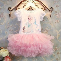 Vestido Fantasia Festa Infantil Elsa Aniversário Frozen