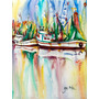 Ocean Springs Barcos Do Camarão Flag Canvas Casa Tamanho Jm