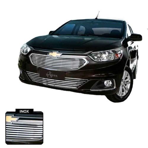 Sobre Grade Chevrolet Cobalt 2016 Modelo Novo Inox 3 Peças