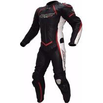 Macacão De Couro 1 Peça Motociclista Agv Sport Lançamento