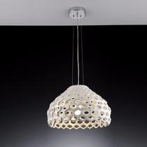 Pendente Luminária Colmeia E27 Branco Bronzearte - Oferta