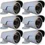 Lote 6 Câmera Canhão Ip 1.3mp Hd 720p Onvif 2.4 Pega Placa