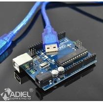 Arduino Uno + Cabo Usb / Atualizado R3