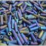 Canutilho 7mm Multicolorido Mate Irisado 500 Gramas Jablonex