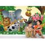 Papel Parede Painel Adesivo Safari Animais Infantil Zoo Md14