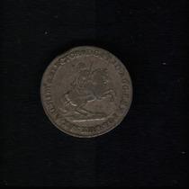 Moeda Alemanha Saxonia - Albertunp 2 Graschen 1742 Prata
