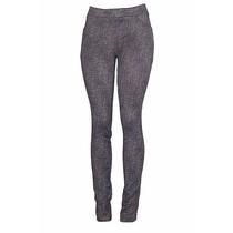 Calça Legging Macia E Confortável Estampa De Jeans Handara