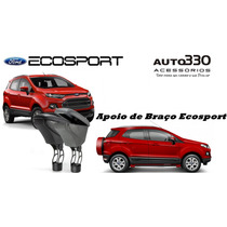 Apoio De Braço Ford Ecosport Couro Preto Ou Cinza