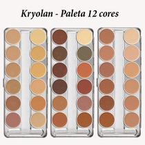 Kryolan Dermacolor Corretivo Paleta 12 Cores