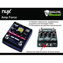 Pedal Nux Amp Force Simulador De Amplificador/gabinete