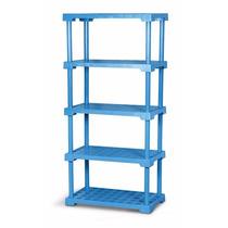 Estante Plastica 5 Prateleiras Reforçada P/ 50kg Cor Azul