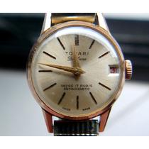 Tovari Relógio Feminino Ano 1960 Joia Ouro Corda
