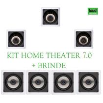 Kit Home Theater 7.0 Caixas De Embutir No Teto Gesso - 700w