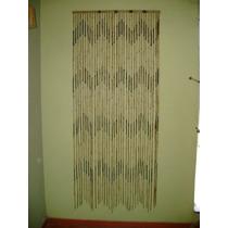 Cortina De Bambú Natural Para Portas