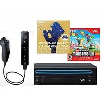 Nintendo Wii Black + Jogo New Super Mario Bros Original