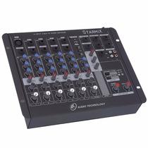Mesa Som Mixer Starmix Ll Audio Usfx602 6 Ch Usb + Efeito