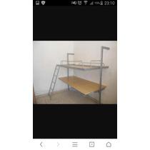 Cama Suspensa Integrada Com Escrivaninha Tock Stock