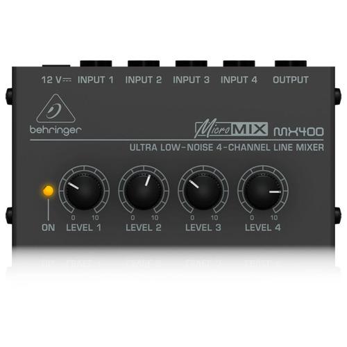 Mixer Behringer Micromix Mx400 Preto Com 4 Canais 110v