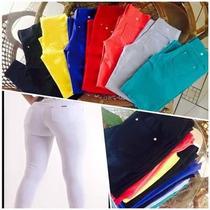 Calça Legging De Cotton Com Bolso - Cores Variadas