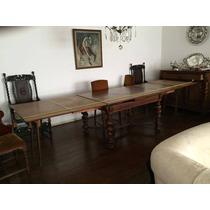 Mesa De Jantar Com 12 Cadeiras Carvalho