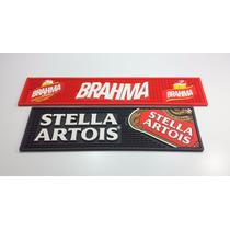 Kit Bar Mat Com 2 Tapetes, Stella Artois Preto E Brahma