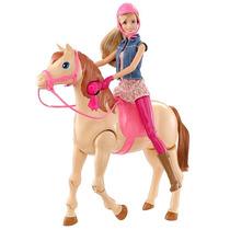 Boneca Barbie Family Com Cavalo - Mattel Cld93