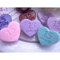 100 Mini Sabonetes Coração 15 Anos Lembrancinha Lindos!!
